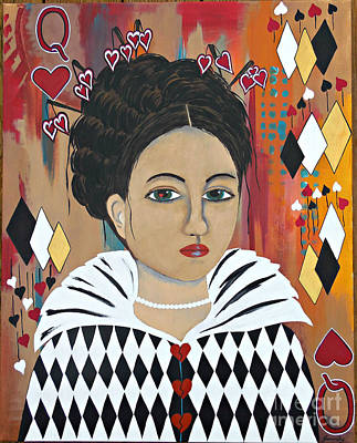 Painting - Queen Of Hearts by Jean Fry