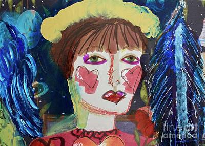 Painting - Queen Of Hearts by Kim Nelson
