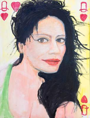Painting - Queen Of Hearts by Larry Lamb