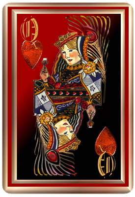 Pastel - Queen Of Hearts by Pamela Mccabe