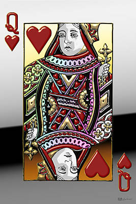 Digital Art - Queen Of Hearts   by Serge Averbukh
