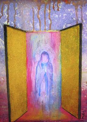 Queen Of Heaven Art Print by Mary Ellen Frazee