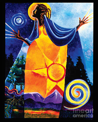 Painting - Queen Of Heaven, Mother Of Earth - Mmqhe by Br Mickey McGrath OSFS
