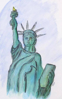 Painting - Queen Of Liberty by Clyde J Kell