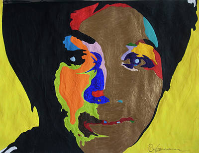 Music Paintings - Queen Of Soul by Stormm Bradshaw