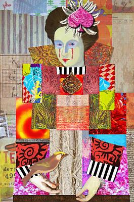 Playing Cards Digital Art - Queen Of Spades Custom Order by Elena Nosyreva