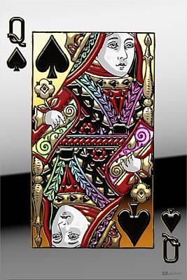 Digital Art - Queen Of Spades   by Serge Averbukh