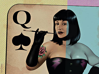 Painting - Queen Of Spades by Udo Linke