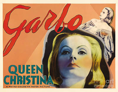 Greta Garbo Painting - Queen Of Sweden by Celestial Images