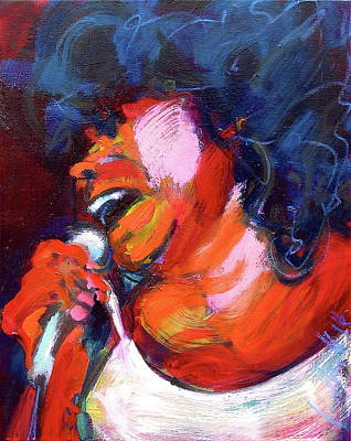 Painting - Queen Of The Blues by Les Leffingwell