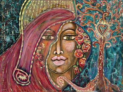 Wall Art - Painting - Queen Of The Cosmos by Evelyne Verret