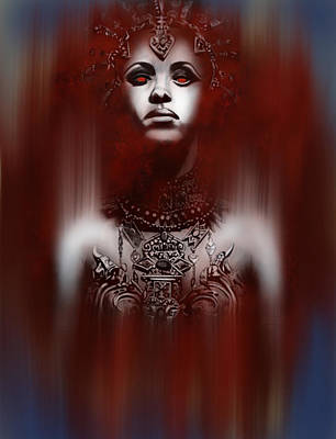Anne Rice Digital Art - Queen Of The Damned by Michael Gibbs