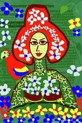 Digital Art - Queen Of The Garden by Anand Swaroop Manchiraju