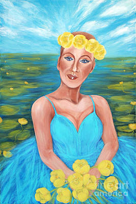 Painting - Queen Of The Water Lilies by Oksana Semenchenko
