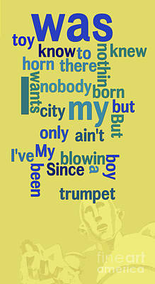 Trumpet Digital Art - Queen. Sleeping On The Sidewalk. Messy Lyrics. Game For Musicians And Fans by Pablo Franchi