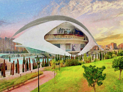Digital Art - Queen Sofia Palace Of The Arts by Digital Photographic Arts