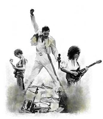 Miles Davis - Queen  Triumphant by Iconic Images Art Gallery David Pucciarelli