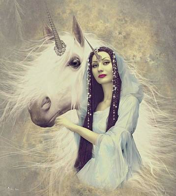 Digital Art - Queen Unicorn by Ali Oppy