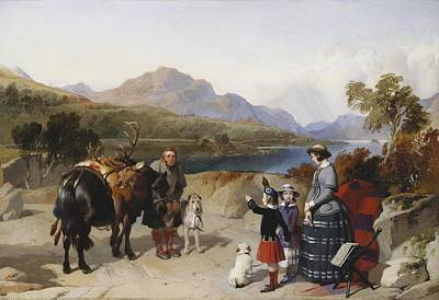 Victoria Painting - Queen Victoria At Loch Laggan by MotionAge Designs