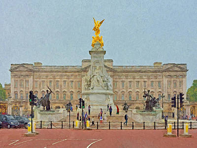 Digital Art - Queen Victoria Memorial And Buckingham Palace by Digital Photographic Arts