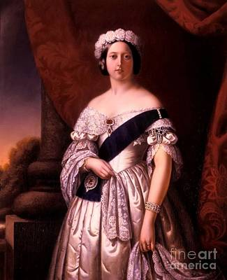 Victoria Painting - Queen Victoria Of England by MotionAge Designs