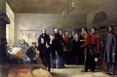 Queen Victoria's First Visit To Her Wounded Soldiers Art Print by Jerry Barrett