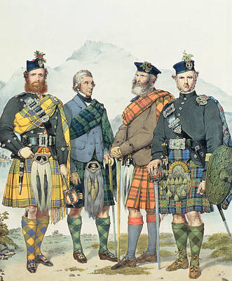 Scotland Drawing - Queen Victoria's Highlanders by Kenneth Macleay