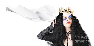 Queen Waving White Flag Art Print
