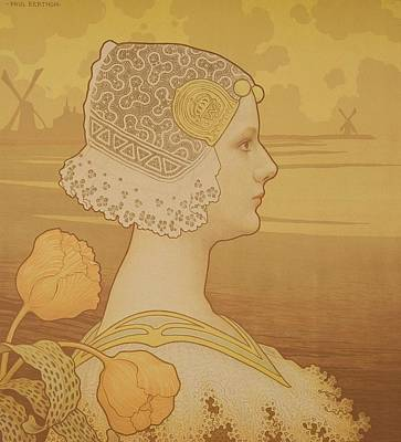 Painting - Queen Wilhelmina by Paul Berthon