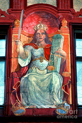 Photograph - Queen With Sword, Outdoor Mural by Wernher Krutein