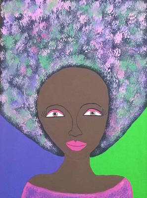 Painting - Queen Mocha by Yvonne Carson