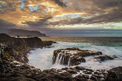 Photograph - Queen's Bath At Sunset by Pierre Leclerc Photography