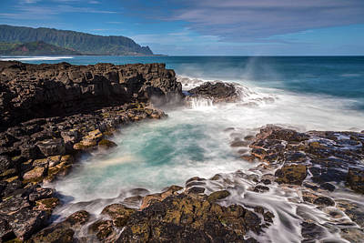 Photograph - Queen's Bath Seascape by Pierre Leclerc Photography