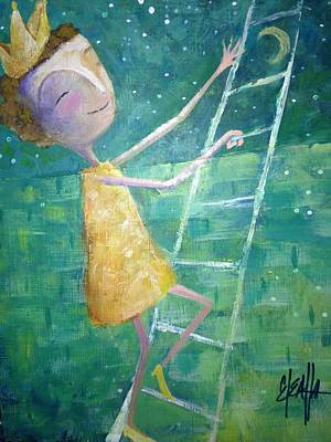 Art Print featuring the painting Queens Climb Higher by Eleatta Diver
