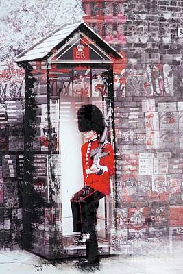 Interior Scene Mixed Media - Queen's Guard by Nica Art Studio