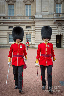 Human Form Photograph - Queen's Guards by Inge Johnsson