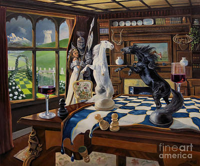 Library Painting - Queen's Magic by Jeanne Newton Schoborg