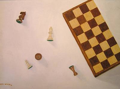 Chess Pieces Painting - Queen's Ransom by Nigel Wynter
