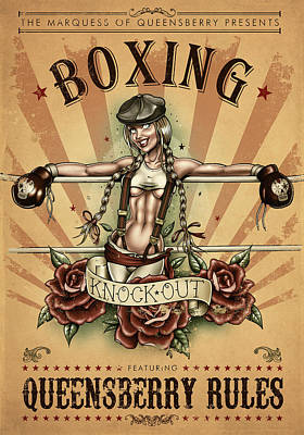 Knockout Digital Art - Queensberry Rules by Andy Screen