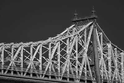 Photograph - Queensboro Ed Koch Bridge II Bw by Susan Candelario