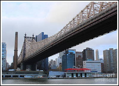 Photograph - Queensborough Bridge In New York City - A View From Four Freedoms Park by Dora Sofia Caputo Photographic Art and Design