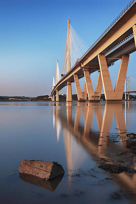 Photograph - Queensferry Crossing Portrait by Grant Glendinning