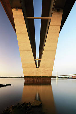 Photograph - Under The Queensferry Crossing Bridge by Grant Glendinning