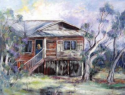 Queenslander Style House, Cloncurry. Art Print