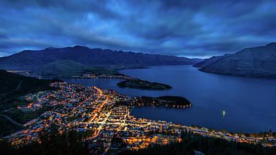 Aotearoa Photograph - Queenstown Lights Up by Kumar Annamalai