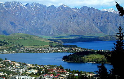 Photograph - Queenstown Neslted Among Mountains And Lakes by Laurel Talabere