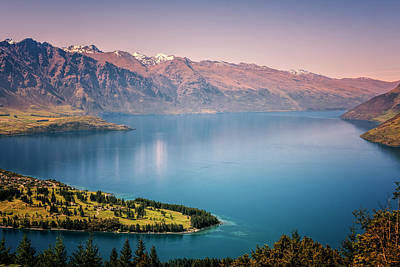 Queenstown New Zealand From Above Art Print