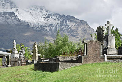 Photograph - Queenstown New Zealand. Remarkable Ranges And Old Cemetery by Yurix Sardinelly