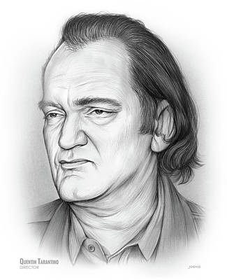 Drawing - Quentin Tarantino by Greg Joens