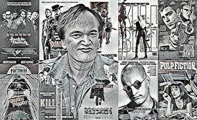 Grindhouse Digital Art - Quentin Tarantino  by Pd